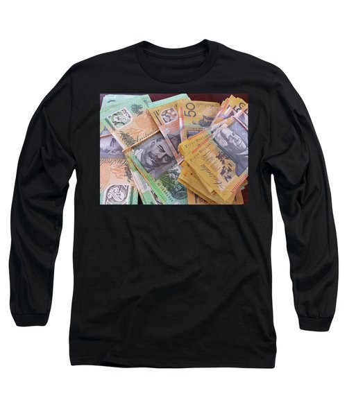 Long Sleeve T-Shirt featuring the photograph Money by Debbie Cundy