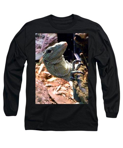 Monitor Lizard 002 Long Sleeve T-Shirt by Chris Mercer