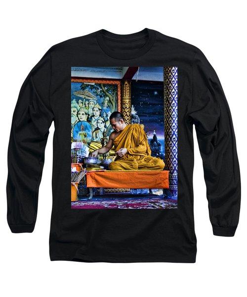 Monk At Big Buddha  Long Sleeve T-Shirt
