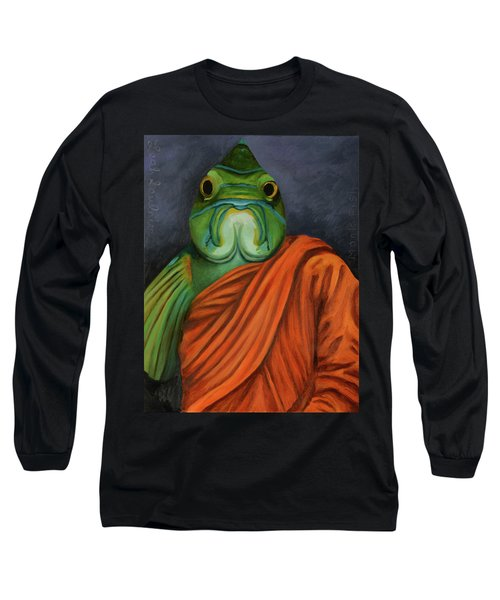 Long Sleeve T-Shirt featuring the painting Monk Fish by Leah Saulnier The Painting Maniac