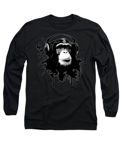 Monkey Business - Black Long Sleeve T-Shirt by Nicklas Gustafsson