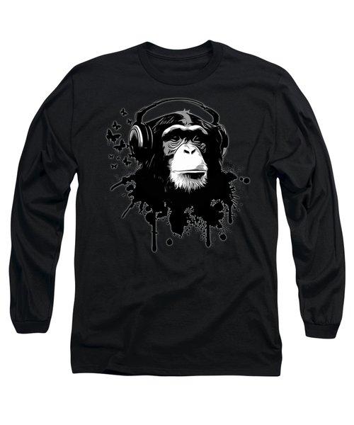 Monkey Business - Black Long Sleeve T-Shirt by Nicklas Gustafsson