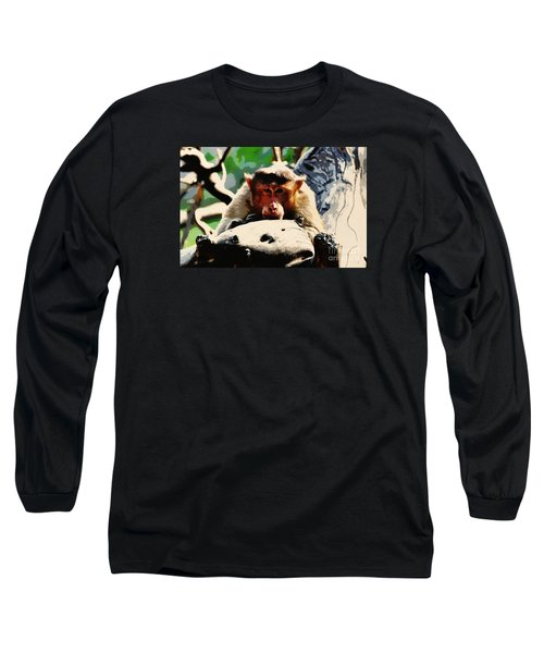 Thoughtful  Long Sleeve T-Shirt by Manjot Singh Sachdeva