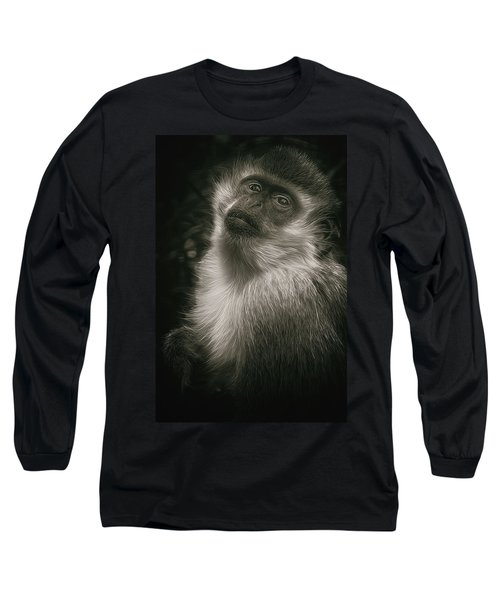 Monkey Portrait Long Sleeve T-Shirt