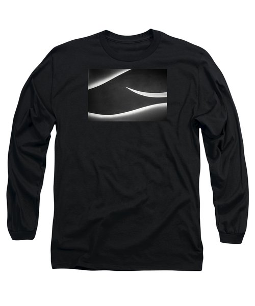 Monochrome Abstract Long Sleeve T-Shirt