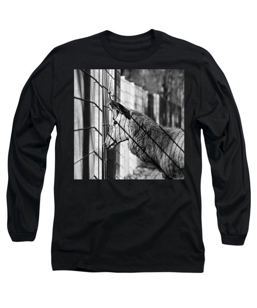 #monochrome #canon #cage #blackandwhite Long Sleeve T-Shirt