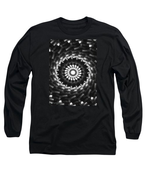 Monochrome Petals Mandala Long Sleeve T-Shirt by Mimulux patricia no No