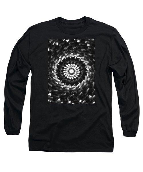 Monochrome Petals Mandala Long Sleeve T-Shirt