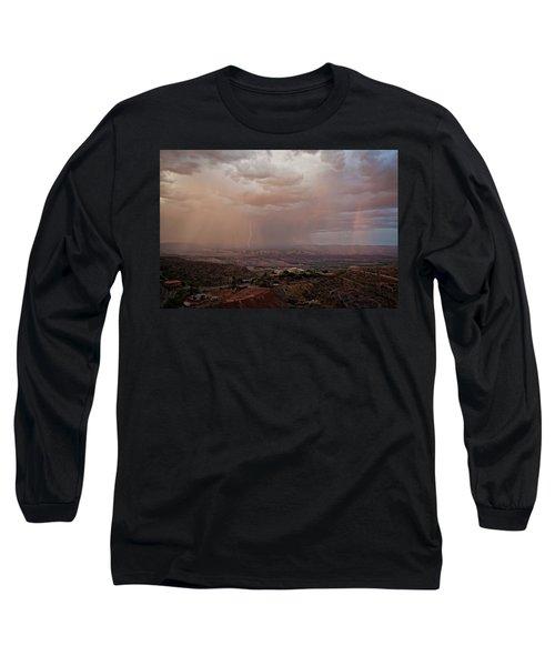 Monsoon Lightning And Rainbow Long Sleeve T-Shirt
