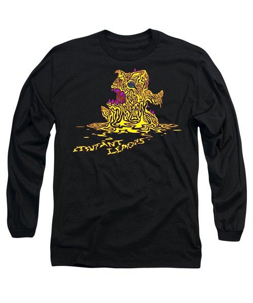 Monster Mutant Lemon Long Sleeve T-Shirt by Jordan Kotter