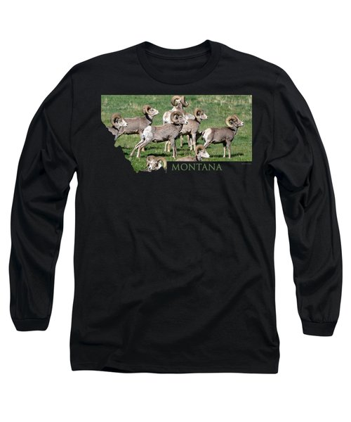 Montana -bighorn Rams Long Sleeve T-Shirt