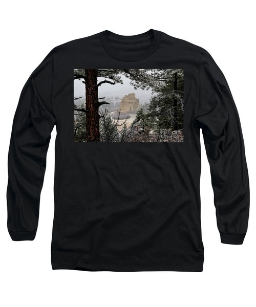 Monument Rock In The Snow Long Sleeve T-Shirt