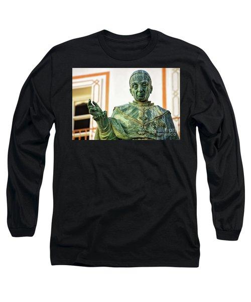Long Sleeve T-Shirt featuring the photograph Monument To Fray Domingo De Silos Morenos Cadiz Spain by Pablo Avanzini