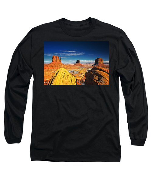 Monument Valley Mittens Utah Usa Long Sleeve T-Shirt by Sam Antonio