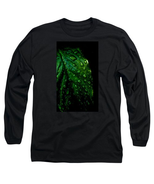 Moody Raindrops Long Sleeve T-Shirt by Parker Cunningham