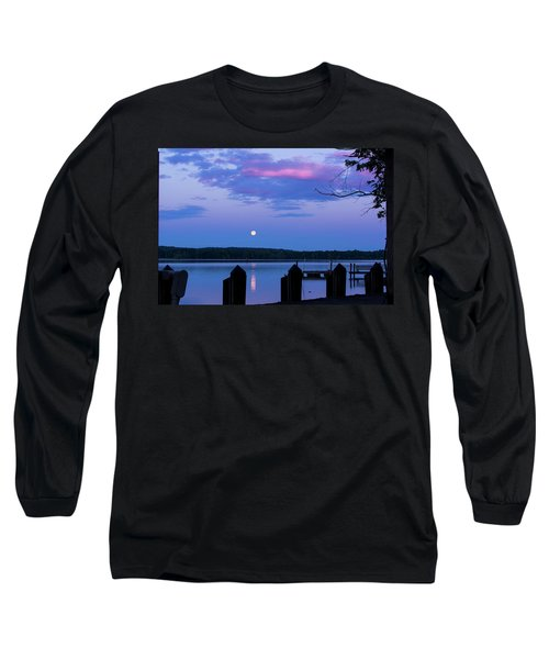 Moon And Pier Long Sleeve T-Shirt