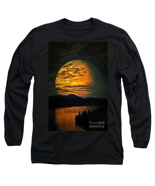 Moon In Ambiance Long Sleeve T-Shirt