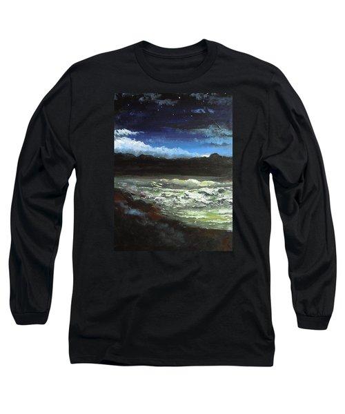 Moon Lit Sea Long Sleeve T-Shirt