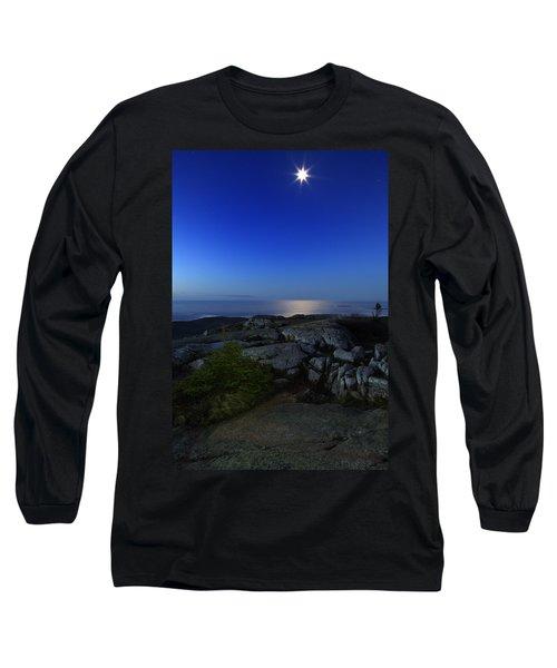 Moon Over Cadillac Long Sleeve T-Shirt by Rick Berk