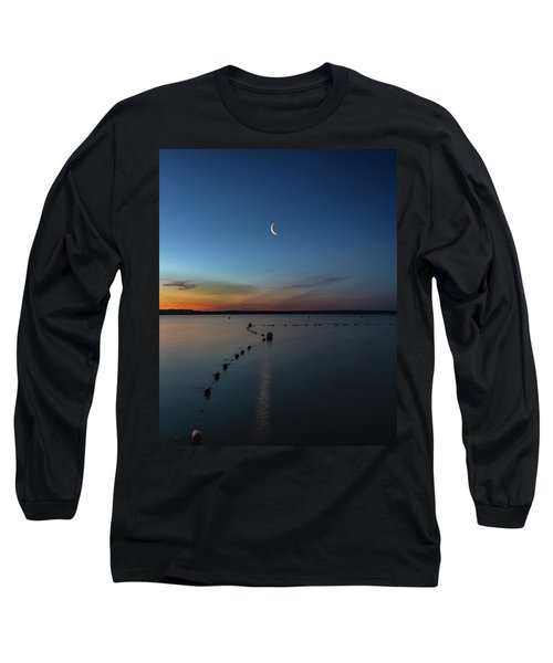 Moon Over Cayuga Long Sleeve T-Shirt
