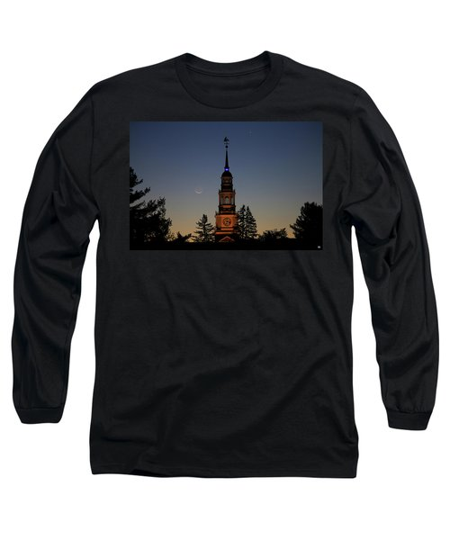 Moon, Venus, And Miller Tower Long Sleeve T-Shirt