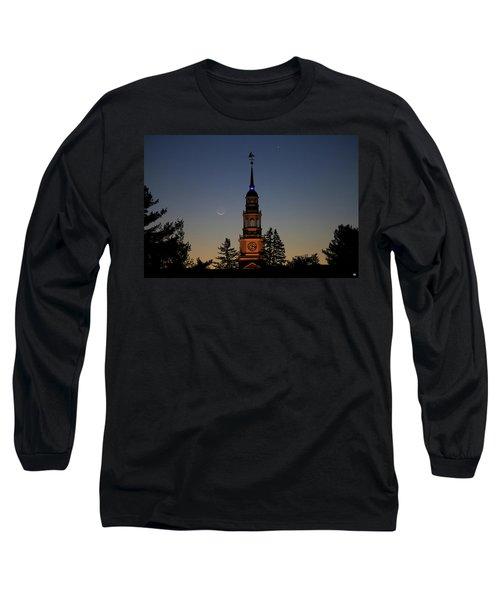 Moon, Venus, And Miller Tower Long Sleeve T-Shirt