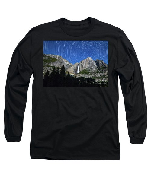 Moonbow And Startrails  Long Sleeve T-Shirt