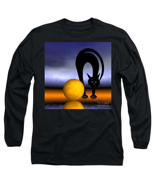 Mooncat's Play With The Fullmoon Long Sleeve T-Shirt