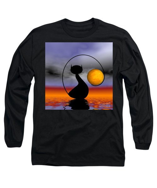 Mooncat's Waiting  Long Sleeve T-Shirt