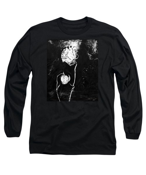 Moonlight And Roses Long Sleeve T-Shirt by Nadine Dennis