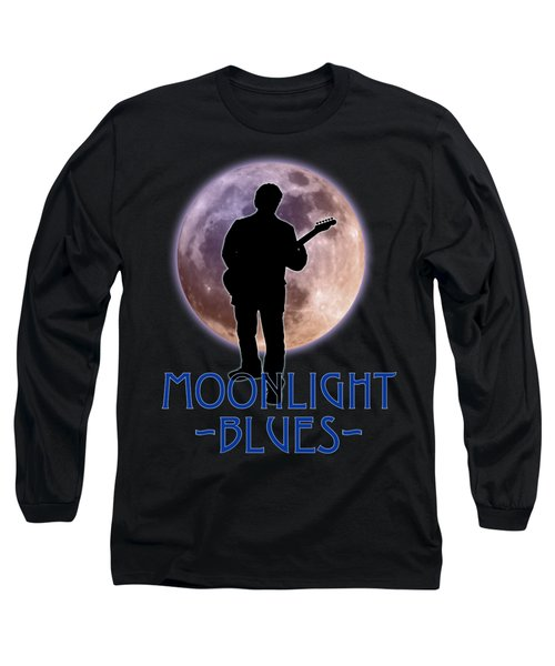 Long Sleeve T-Shirt featuring the photograph Moonlight Blues Shirt by WB Johnston