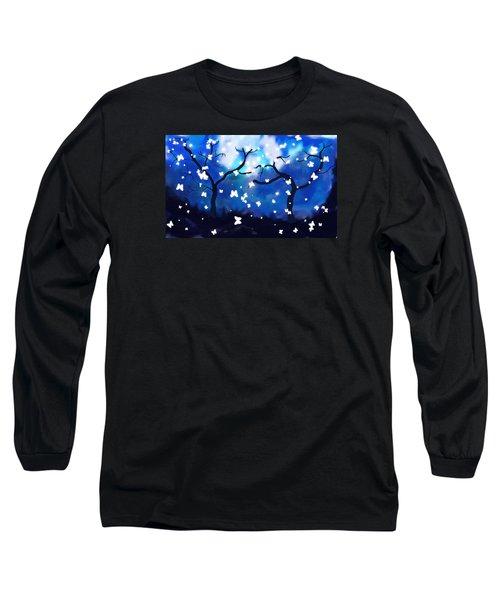 Moonlight Butterflies Long Sleeve T-Shirt