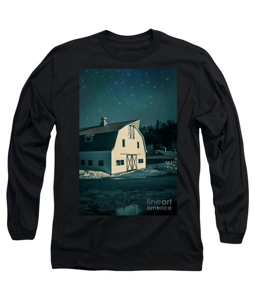 Long Sleeve T-Shirt featuring the photograph Moonlight In Vermont by Edward Fielding