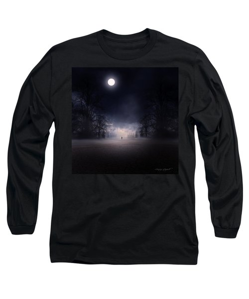 Moonlight Journey Long Sleeve T-Shirt by Lourry Legarde