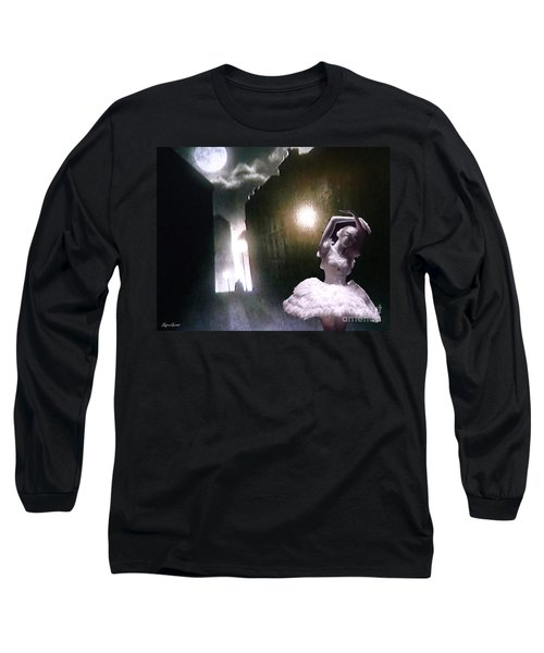 Long Sleeve T-Shirt featuring the digital art Moonlight Memory by Lyric Lucas