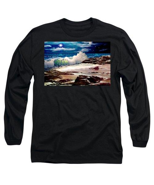 Moonlight On The Beach Long Sleeve T-Shirt