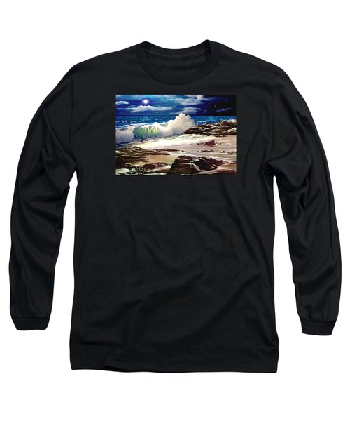 Moonlight On The Beach Long Sleeve T-Shirt
