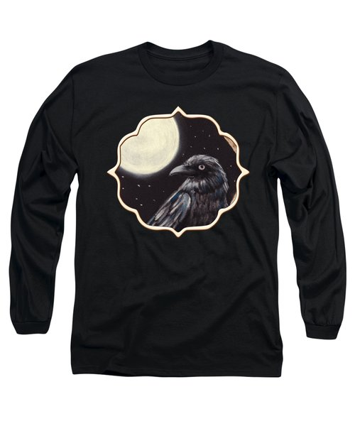 Moonlight Raven Long Sleeve T-Shirt