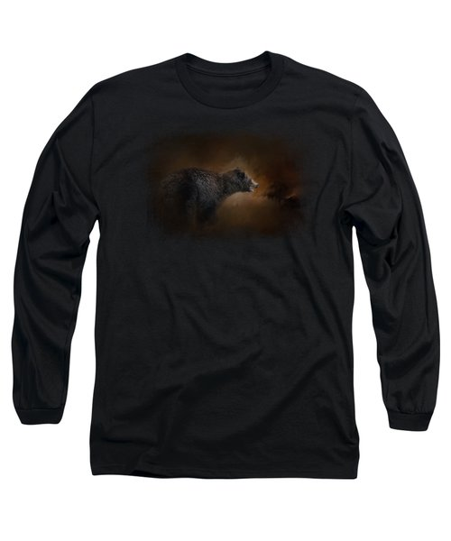 Moonlight Run Long Sleeve T-Shirt by Jai Johnson