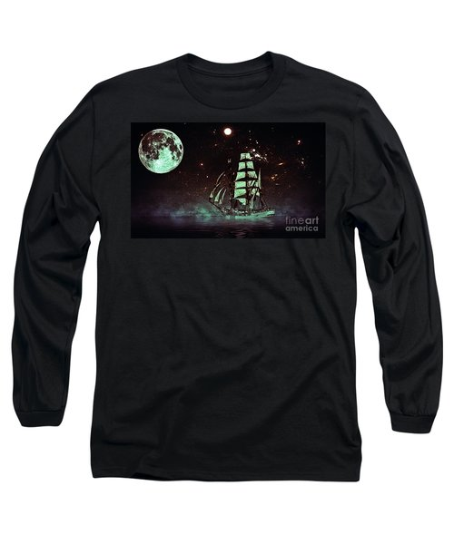 Moonlight Sailing Long Sleeve T-Shirt by Blair Stuart