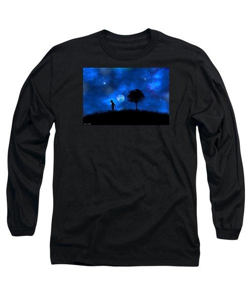 Long Sleeve T-Shirt featuring the digital art Moonlight Shadow by Bernd Hau