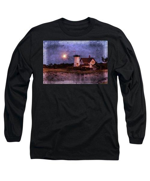 Moonlit Harbor Long Sleeve T-Shirt by Patrice Zinck