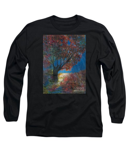 Moonlit Tree Long Sleeve T-Shirt by Denise Hoag