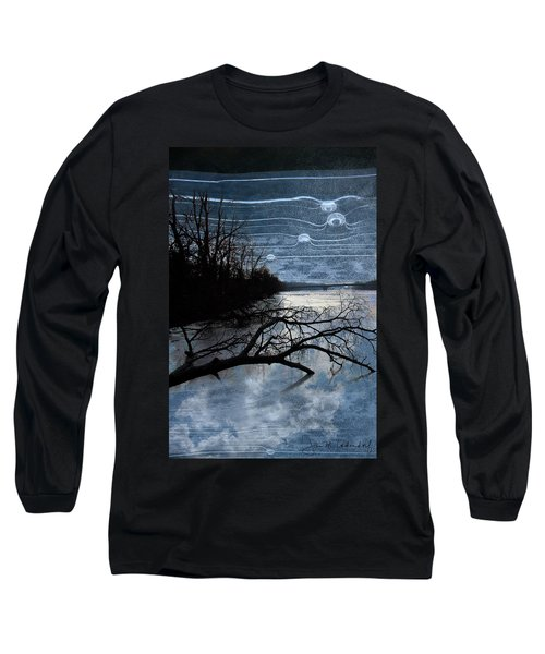 Moons Long Sleeve T-Shirt by Joan Ladendorf