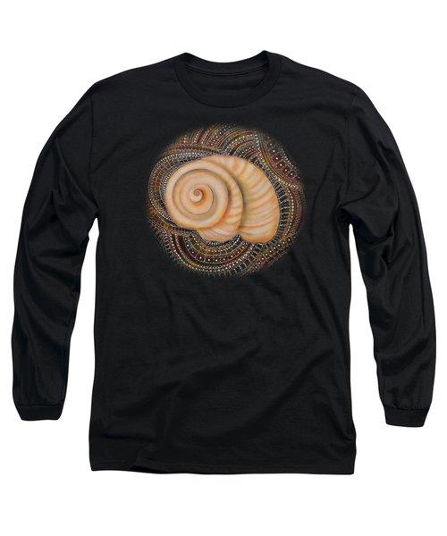Moonsnail Mandala Long Sleeve T-Shirt by Deborha Kerr