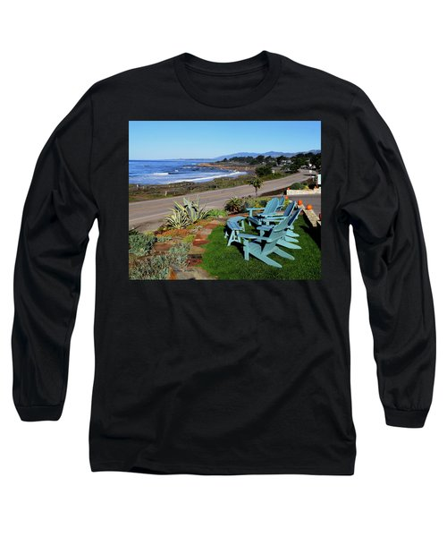 Long Sleeve T-Shirt featuring the photograph Moonstone Beach Seat With A View by Barbara Snyder