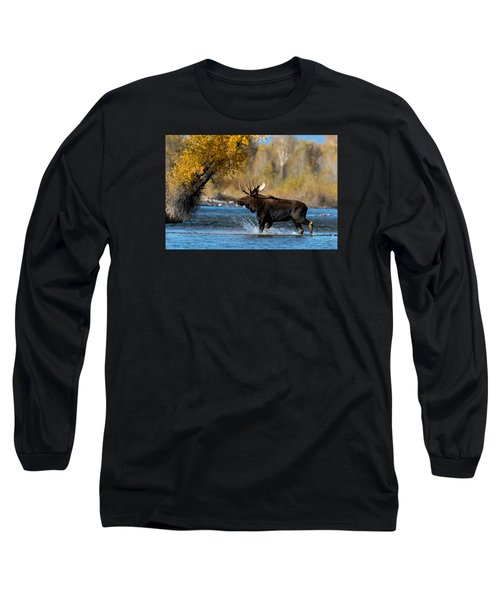 Moose Crossing Long Sleeve T-Shirt