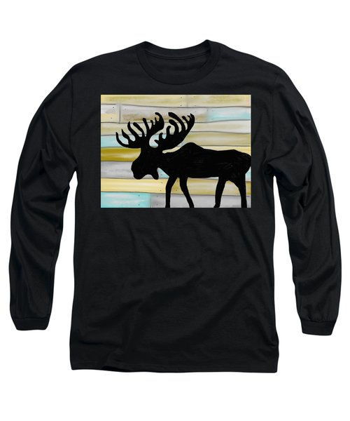 Moose Long Sleeve T-Shirt by Paula Brown