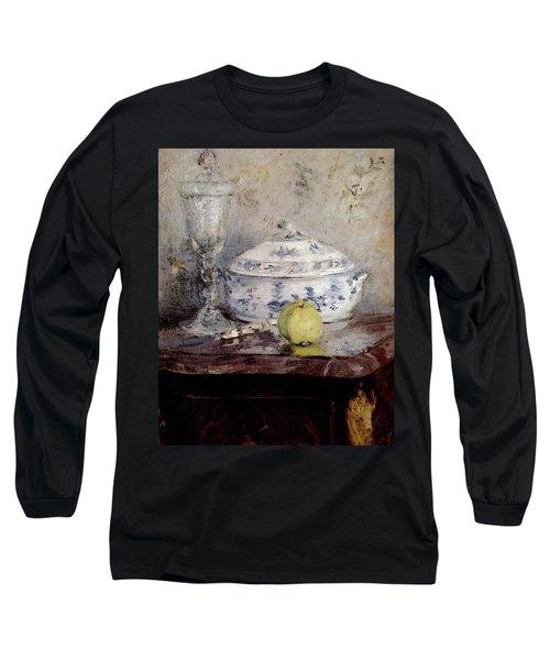 Morisot Berthe Tureen And Apple Long Sleeve T-Shirt by Berthe Morisot