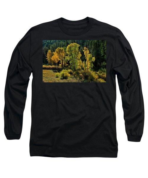 Morning Cottonwoods Long Sleeve T-Shirt
